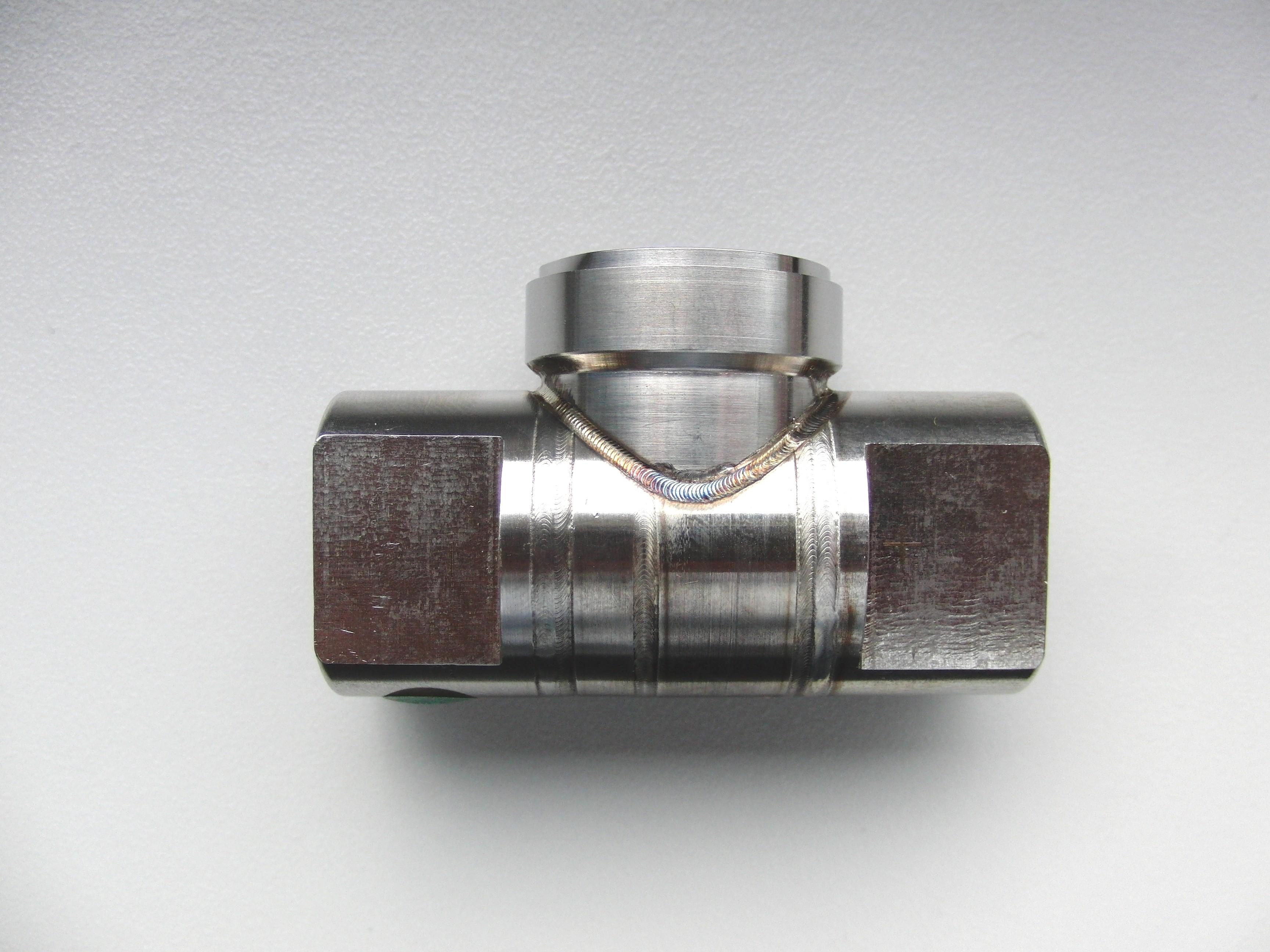 3D Laserschweißen gepulst mit Schutzgas Stickstoff
