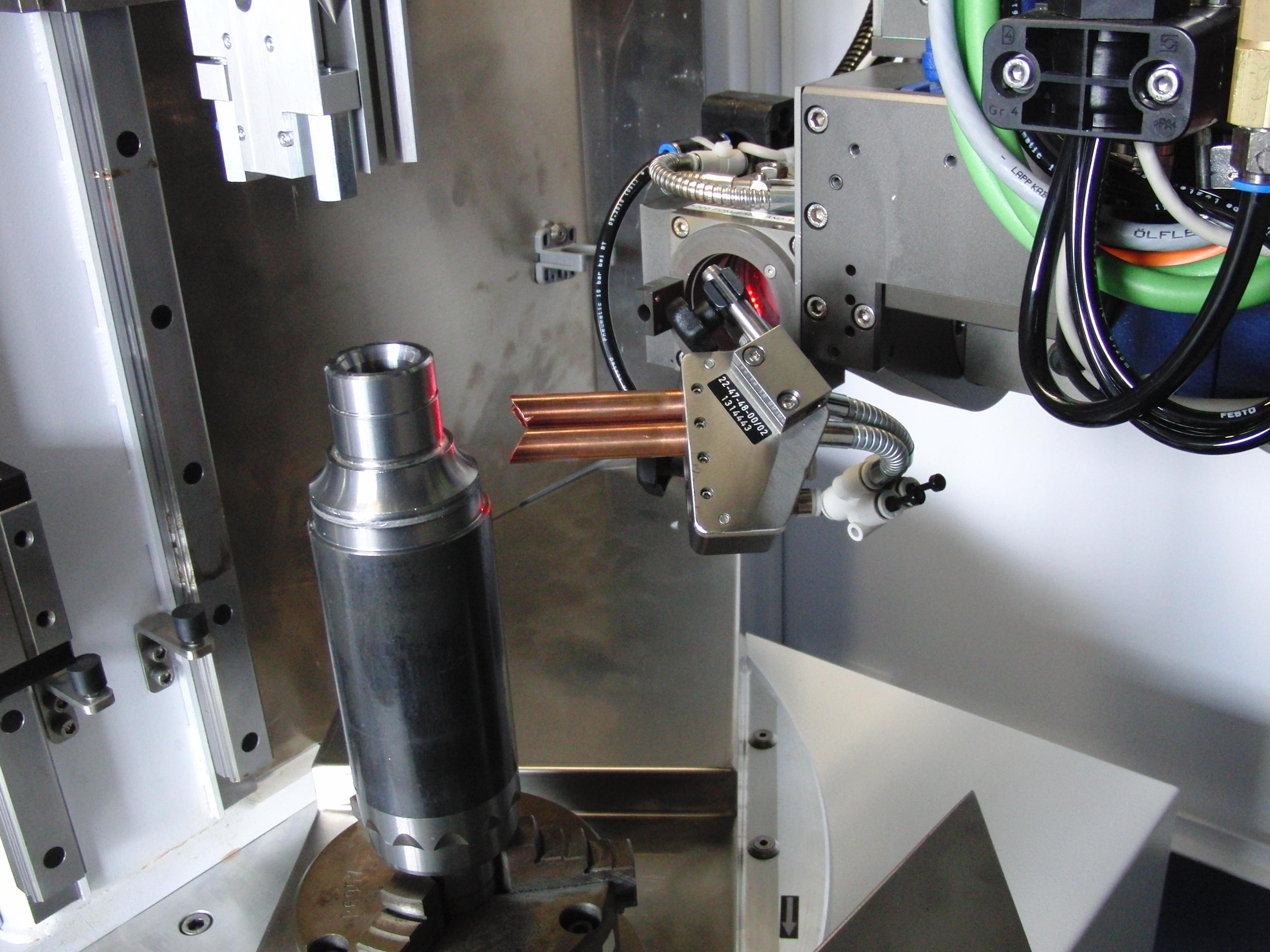 CW-Laserschweißen Prozessaufbau Lagerwelle Schweißtiefe 5mm auf Trumpf TruDisk 3302