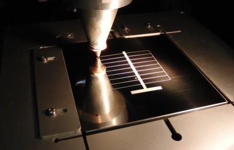 Laserfeinschneiden Solarzellen-Bauteile 1