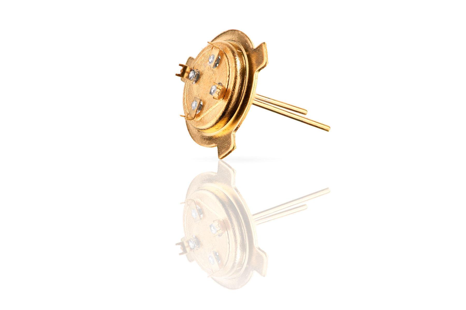 Laserfeinschweißen Glasdurchführung vergoldet