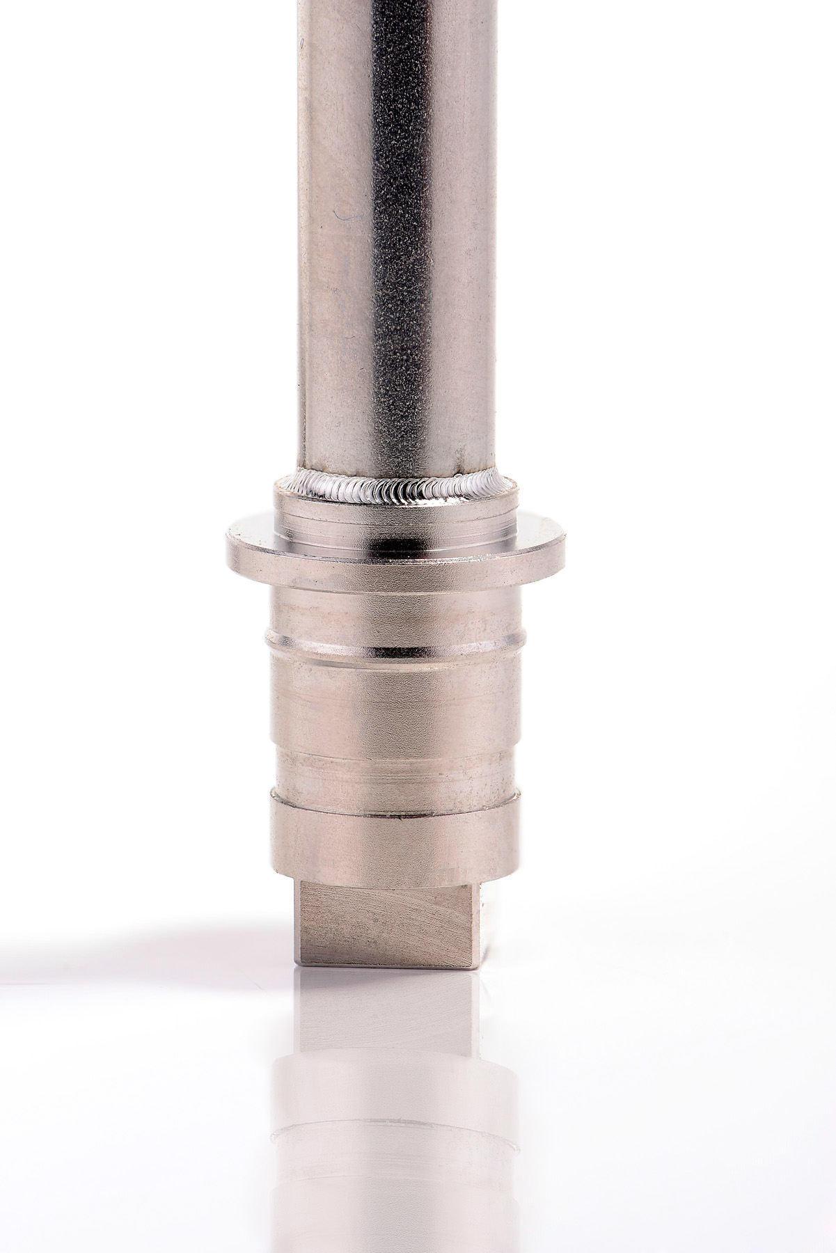Laserfeinschweißen medizinisches Instrument Rohr und Flansch
