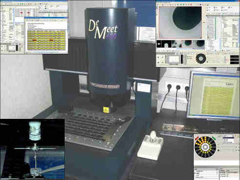 3D Messmaschinen, taktil und optisch mit einer Genauigkeit von +- 1 Mü