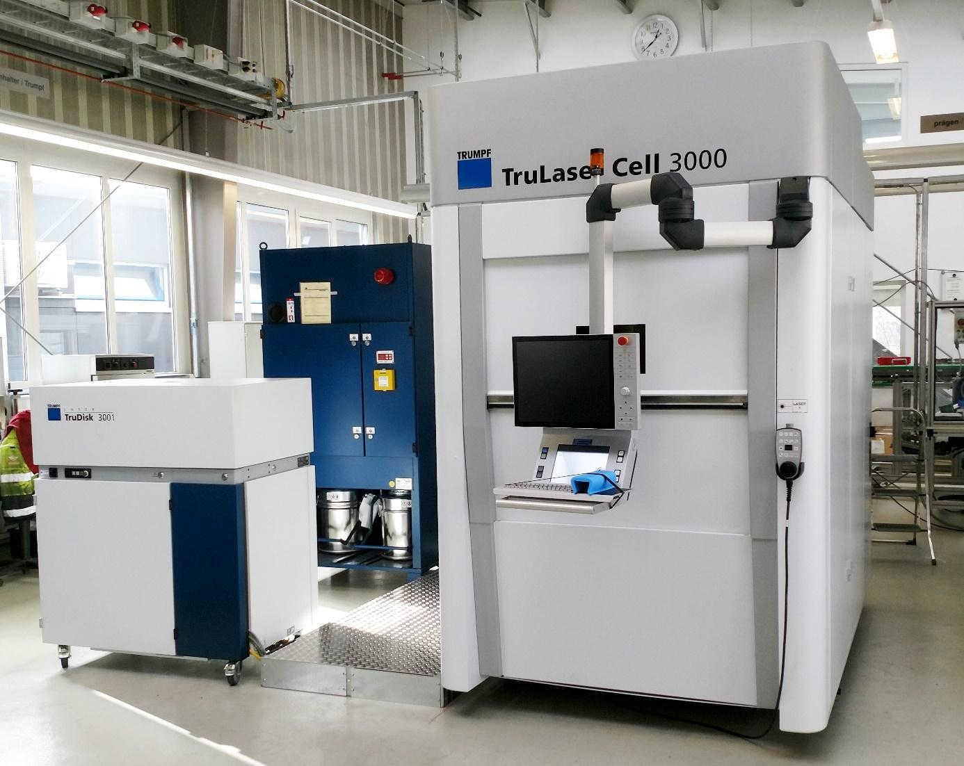 Laserbearbeitungszentrum Trumpf TrueLaser Cell 3000 mit Scheibenlaser